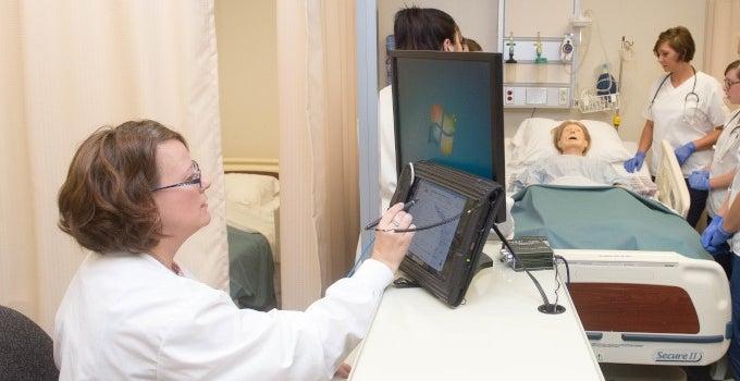 AP Power - Nurse Desk with students a Patient bed